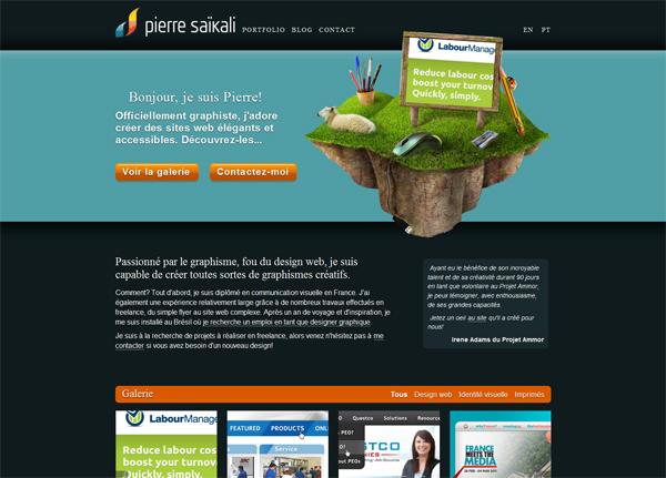 Pierre Saikali网站设计鉴赏