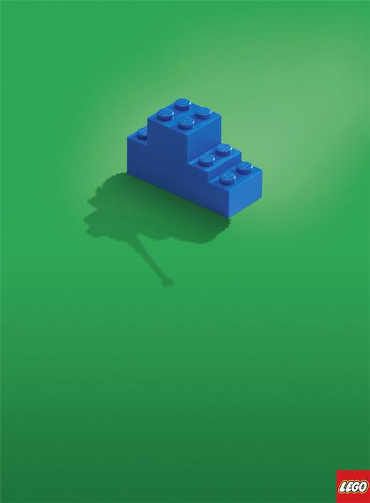乐高玩具经典的简约平面创意广告