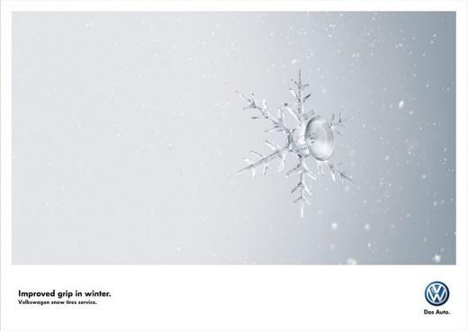 大众轮胎防滑经典简约创意广告