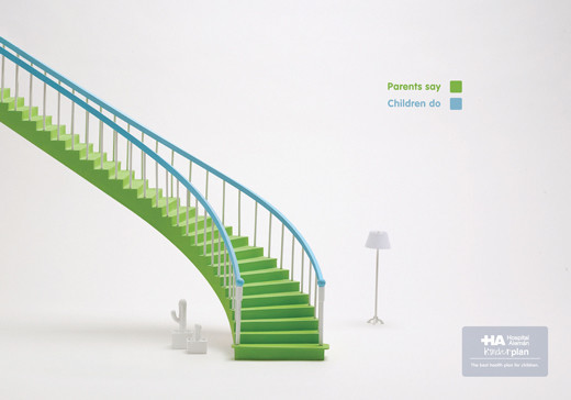 楼梯经典的简约平面创意广告