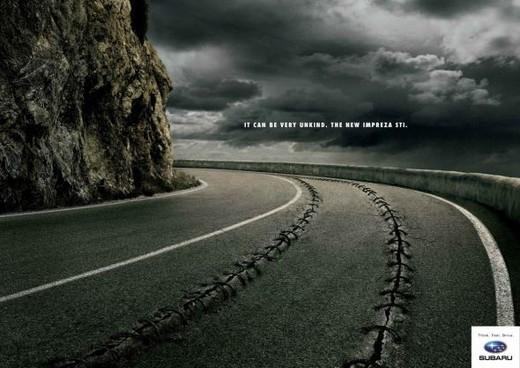 经典汽车简约平面创意广告