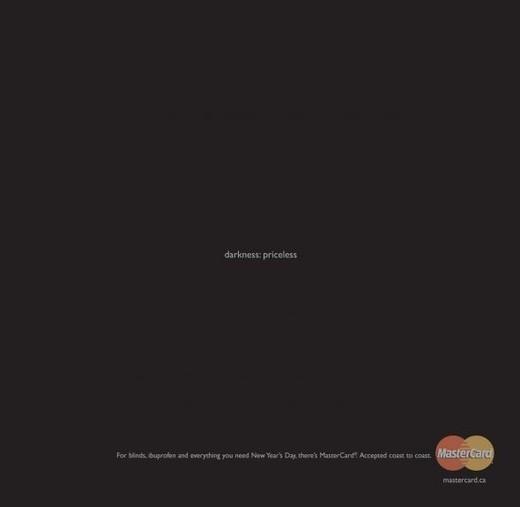 经典的简约平面创意广告